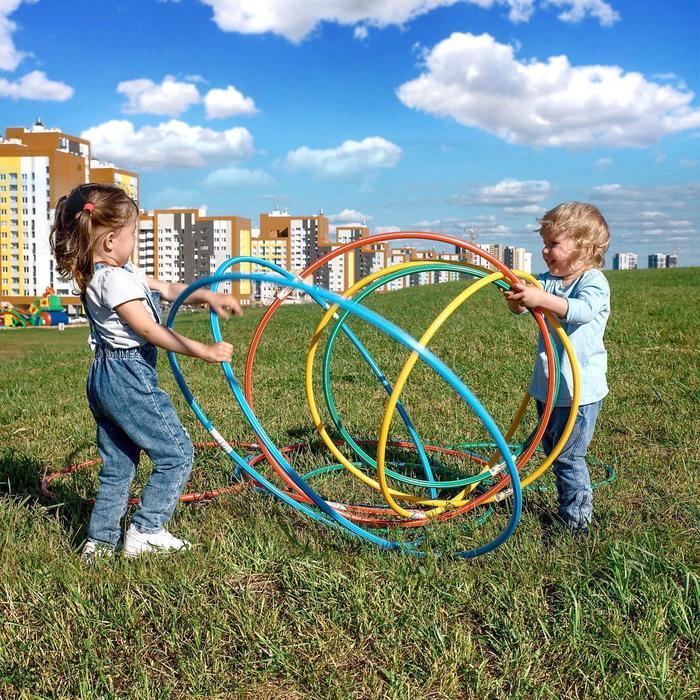 Обруч, диаметр 70 см, цвет голубой - фото 7