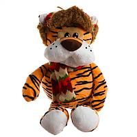 Мягкая игрушка 'Тигр в зимней шапке', 20 см