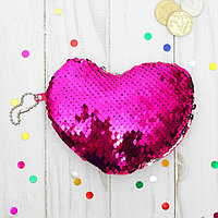 Мягкий кошелёк 'Сердце', пайетки хамелеон (комплект из 12 шт.)