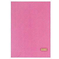 Ткань на клеевой основе 'Розовая в белый горошек', 21 х 30 см