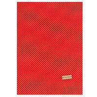 Ткань на клеевой основе 'Красная в белый горошек', 21 х 30 см