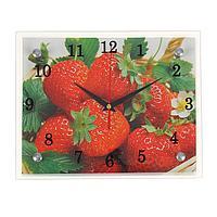 Часы настенные, серия Кухня, 'Клубника', 20х25 см, микс