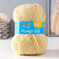 Пряжа Mowgli Eco (МауглиЭко) 90 акрил, 10 капрон 200м/50гр шампанск (772)