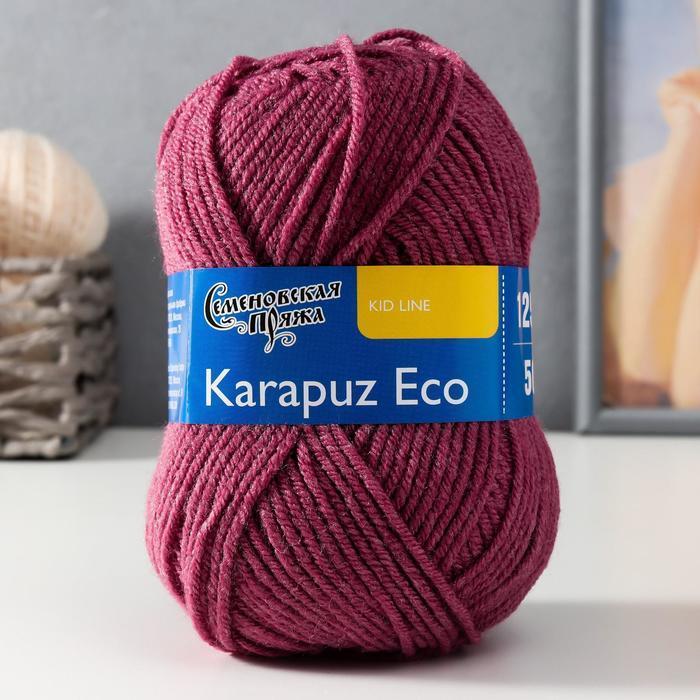 Пряжа Karapuz Eco (КарапузЭко) 90 акрил, 10 капрон 125м/50гр бруснич (51) - фото 1