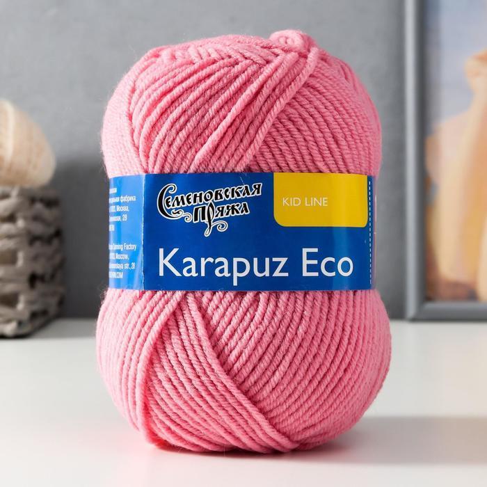 Пряжа Karapuz Eco (КарапузЭко) 90 акрил, 10 капрон 125м/50гр клевер (64) - фото 1