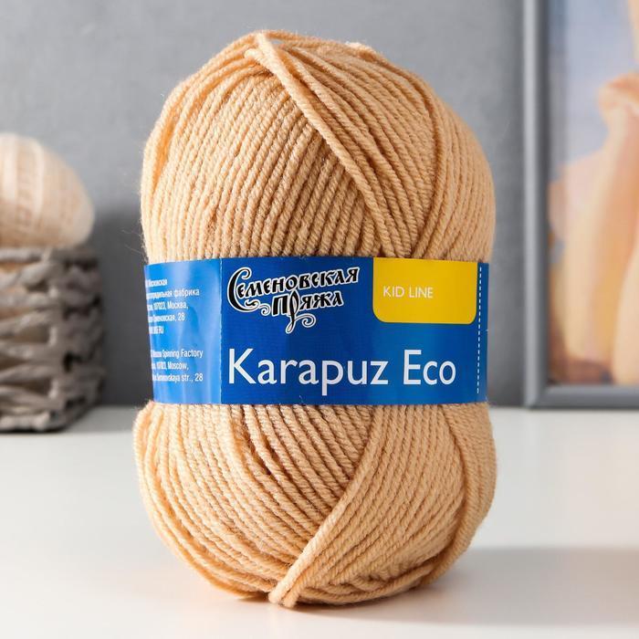 Пряжа Karapuz Eco (КарапузЭко) 90 акрил, 10 капрон 125м/50гр св.беж (17) - фото 1