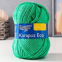 Пряжа Karapuz Eco (КарапузЭко) 90 акрил, 10 капрон 125м/50гр ярк.зел (47)