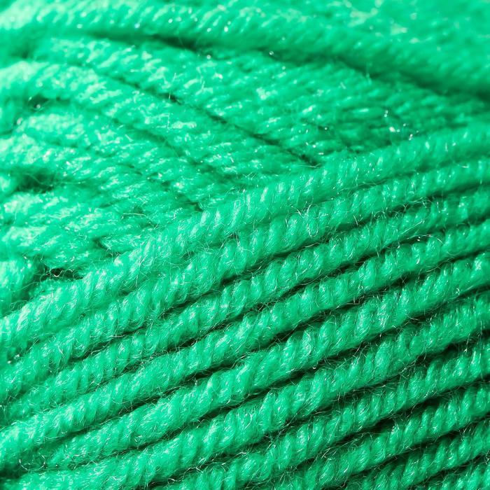 Пряжа Karapuz Eco (КарапузЭко) 90 акрил, 10 капрон 125м/50гр ярк.зел (47) - фото 3