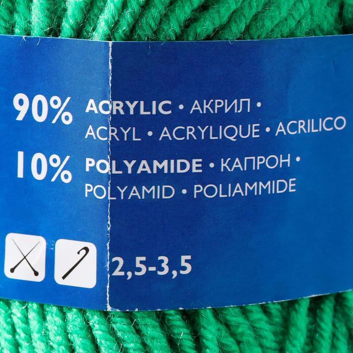 Пряжа Karapuz Eco (КарапузЭко) 90 акрил, 10 капрон 125м/50гр ярк.зел (47) - фото 4