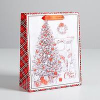 Пакет ламинированный вертикальный 'Новогодний уют', MS 18 x 23 x 8 см