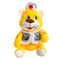 Мягкая игрушка 'Тигр', в зимней одежде, 18 см