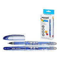 Ручка гелевая 'Стираемая' Mazari Prestige, игольчатый пишущий узел 0.5 мм, стираемые синие чернила (комплект