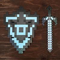Набор деревянных сувениров 'Алмазное оружие' щит, меч