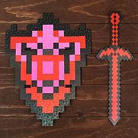 Набор деревянных сувениров 'Рубиновое оружие' щит, меч