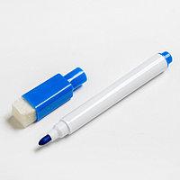 Маркер цветной на водной основе с губкой 2х1,5х11 см синий (комплект из 50 шт.)
