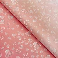 Бумага упаковочная 'Сердца переливчатые', 50 х 70 см (комплект из 10 шт.)