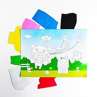 Аппликация 3D 'Панда с воздушными шариками' из ЕVA