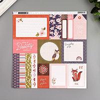 Бумага для скрапбукинга Pink Paislee 'Again Again1' 30.5х30.5 см, 190 гр/м2 (комплект из 5 шт.)