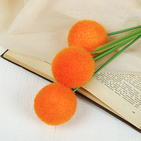 Цветок искусственный 'Шар' d-6 см, микс (комплект из 5 шт.)