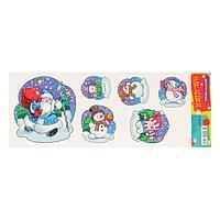 Декоративные наклейки 'Новогодние' Дед Мороз, снеговики