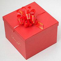 Бант-шар 3 'Золотые полосы', цвет красный (комплект из 20 шт.)