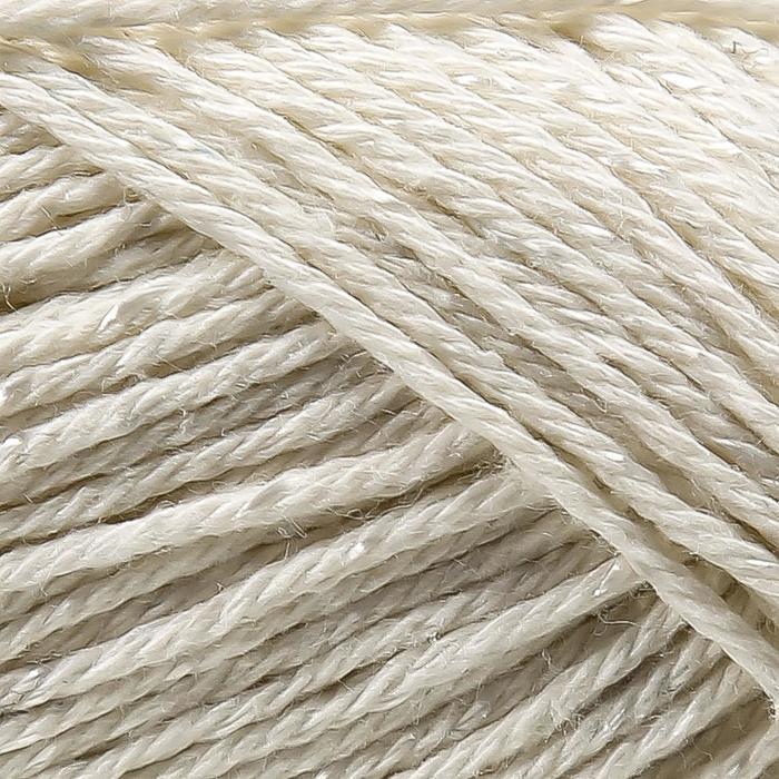 Пряжа 'Бусинка' 90 хлопок, 10 вискоза 110м/50гр (205 белый) - фото 3