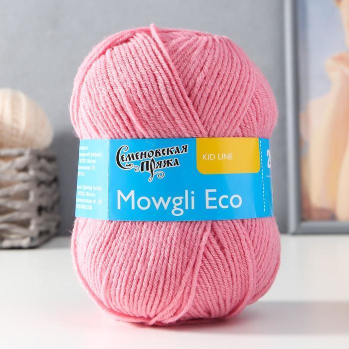 Пряжа Mowgli Eco (МауглиЭко) 90 акрил, 10 капрон 200м/50гр клевер (64) - фото 1