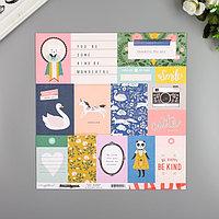 Бумага для скрапбукинга Crate Paper 'Daydream' 30.5х30.5 см, 190 гр/м2 (комплект из 5 шт.)