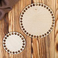 Заготовка для вязания 'Два круга' (набор 2 детали) 10 и 15 см