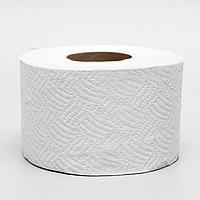 Туалетная бумага серая, для диспенсера, 1 слой, 130 метров (комплект из 12 шт.)