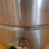 """Универсальный котел 21 литр с зиговкой. Кламп под ТЭН 2"""", Слив 1/5"""", фото 4"""