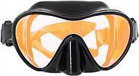 Маска для подводной охоты Marlin Frameless Duo Black + Orange Lens