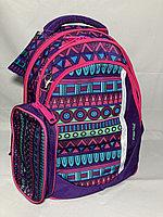 Школьный рюкзак для девочек, 1-3-й класс. Высота 38 см, ширина 30 см, глубина 15 см., фото 1