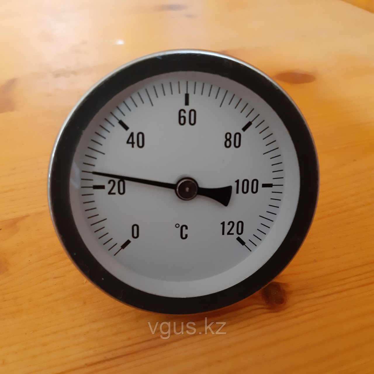 Термометр биметаллический резьба 1/2, корпус латунь.