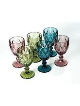 Набор стеклянных бокалов 300мл Разноцветные