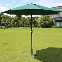 Зеленый зонт с наклоном