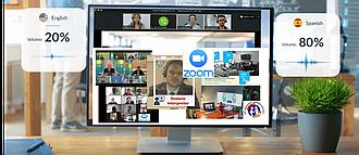 """Аренда лицензии Zoom для вебинаров и перевода (Пакет """"Бизнес"""") / ZOOM Синхронный перевод"""
