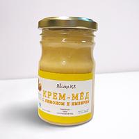 Крем-мёд с лимоном и имбирем ПАСЕКА.KZ 0.25кг.