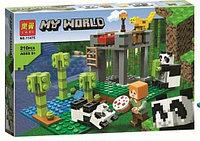 "Конструктор Lari "" Питомник панд"" (аналог Minecraft), 210 детали"