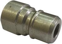 Короткий ниппель, 250 бар (быстросъемный штуцер), 3/8 внутренняя резьба, нержавеющая сталь.