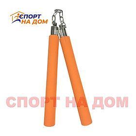 Тренировочные нунчаки (оранжевые)