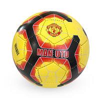 Матовый, Футбольный мяч №5 - Manchester United / Желтый-красный-черный цвет
