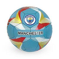 Матовый, Футбольный мяч №5 - Manchester City / Голубой цвет