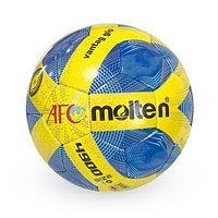 Лакированный, Футбольный мяч №5 - AFC Molten / Синий-Желтый цвет