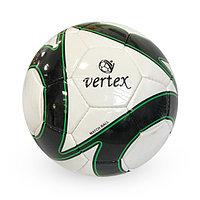 Лакированный, Футбольный мяч №5 - Vertex / Белый-Черный цвет