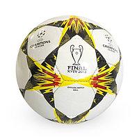 Лакированный, Футбольный мяч №5 - Champions league / Белый-Черный цвет
