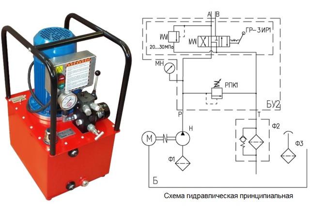 насос для домкрата электрический