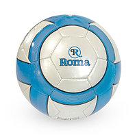 Лакированный, Футбольный мяч №5 - Roma / Серый-Голубой цвет