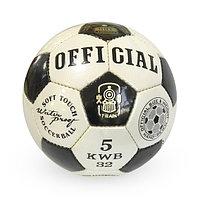 Лакированный, Футбольный мяч №5 - Official / Белый-Черный цвет