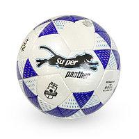 Лакированный, Футбольный мяч №5 - Super Panther / Белый-синий цвет